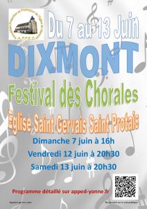 Festival des Chorales @ Eglise Saint Gervais - Saint Protais | Dixmont | Bourgogne | France