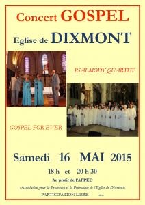 Concert Gospel @ Eglise Saint Gervais - Saint Protais | Dixmont | Bourgogne | France