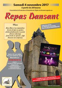 Repas Dansant - 4 Novembre 2017 @ Salle Polyvalente | Villeneuve-sur-Yonne | Bourgogne Franche-Comté | France