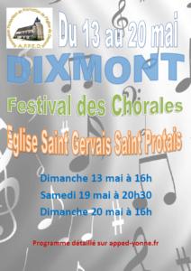 Festival des Chorales 2018 @ Eglise de Dixmont