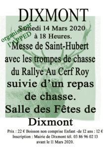 Messe de Saint-Hubert - Repas de chasse